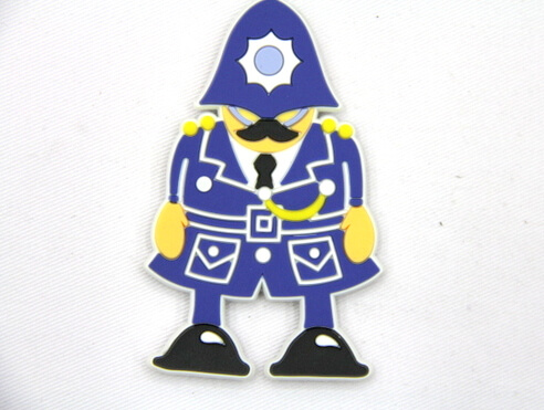 Silicone/Rubber fridge magnets, Cute cartoon, guard, #02032-004