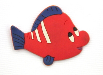 Silicone/Rubber fridge magnets Cute cartoon, sea animals, clown fish, #02033-002