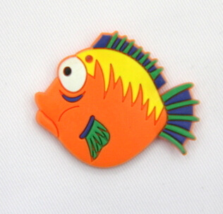 Silicone/Rubber fridge magnets Cute cartoon, sea animals, spike fish, #02033-008