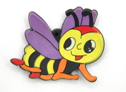 Silicone/Rubber fridge magnets, Cute cartoon animals, bee, #02034-001