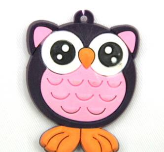 Silicone/Rubber fridge magnets, Cute cartoon animals, owl, #02034-002