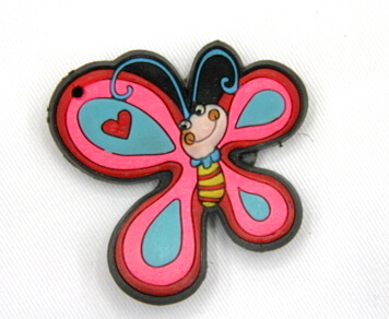 Silicone/Rubber fridge magnets, Cute cartoon animals, butter fly, #02034-004