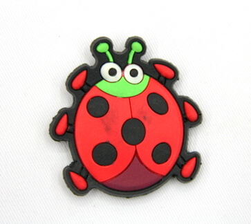 Silicone/Rubber fridge magnets, Cute cartoon animals, lady bird, #02034-006