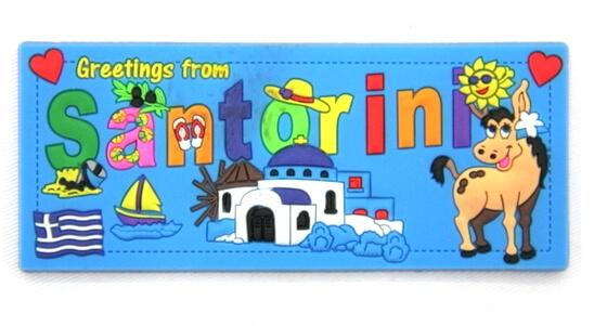 Silicone/Rubber Fridge Magnet tourist souvenirs, Greece, , # 02035-009