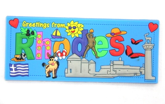 Silicone/Rubber Fridge Magnet tourist souvenirs, Greece, , # 02035-011