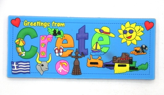 Silicone/Rubber Fridge Magnet tourist souvenirs, Greece, , # 02035-013