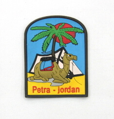 Silicone/Rubber Fridge Magnet tourist souvenirs, Jordan, , # 02036-001