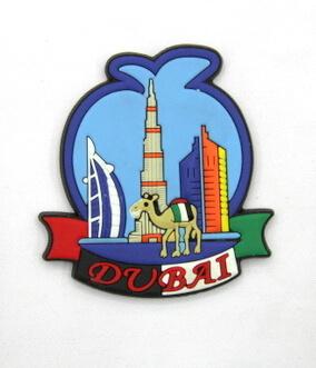 Silicone/Rubber Fridge Magnet tourist souvenirs, Dubai, , # 02036-004