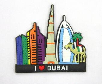 Silicone/Rubber Fridge Magnet tourist souvenirs, Dubai, , # 02036-005