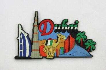 Silicone/Rubber Fridge Magnet tourist souvenirs, Dubai, , # 02036-008