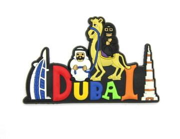 Silicone/Rubber Fridge Magnet tourist souvenirs, Dubai, , # 02036-010