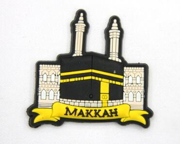 Silicone/Rubber Fridge Magnet tourist souvenirs, Makkah, , # 02036-015