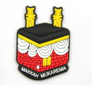 Silicone/Rubber Fridge Magnet tourist souvenirs, Makkah, , # 02036-017