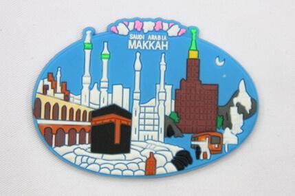 Silicone/Rubber Fridge Magnet tourist souvenirs, Makkah, , # 02036-018