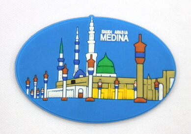 Silicone/Rubber Fridge Magnet tourist souvenirs, medina, , # 02036-020