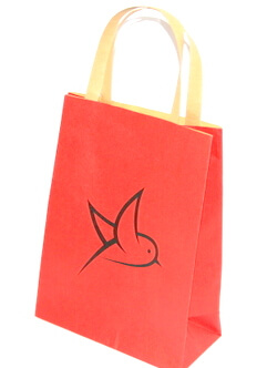 Two sides 100g Craft Paper Bag, bird, #03003