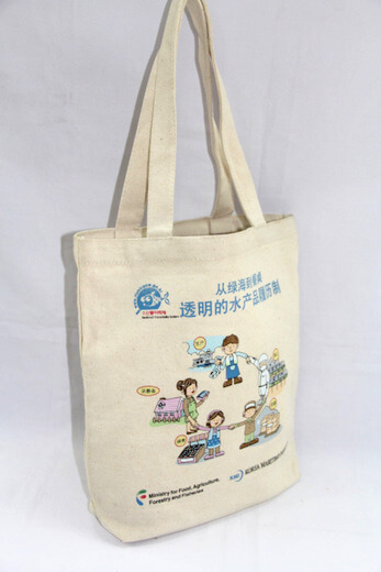 Reusable promotional cotton/canvas shopping totes with custom print/logo, #04-004
