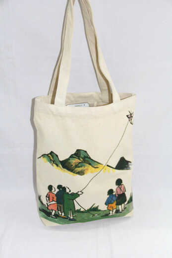 Reusable promotional cotton/canvas shopping totes with custom print/logo, #04-008