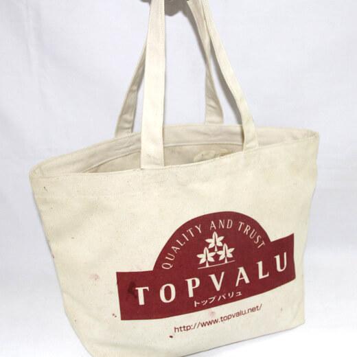 Reusable promotional cotton/canvas shopping totes with custom print/logo,Topvalu, #04-016