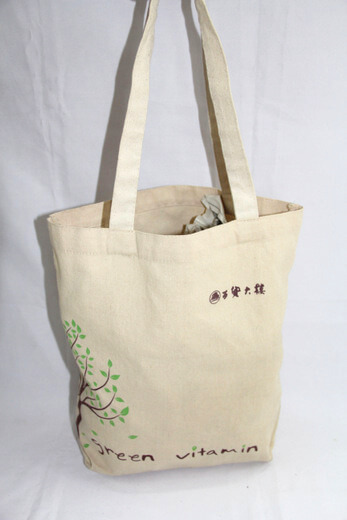Reusable promotional cotton/canvas shopping totes with custom print/logo, for shopping mall, #04-030