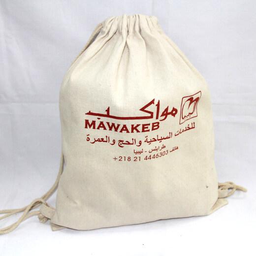 Reusable promotional cotton/canvas drawstring bag with custom print/logo, #04-032