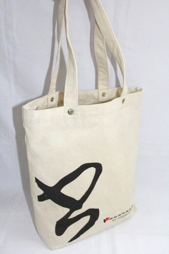 Reusable promotional cotton/canvas shopping totes with custom print/logo, , #04-034