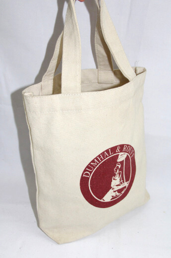 Reusable promotional cotton/canvas shopping totes with custom print/logo, souvenir, Bruni, #04-040