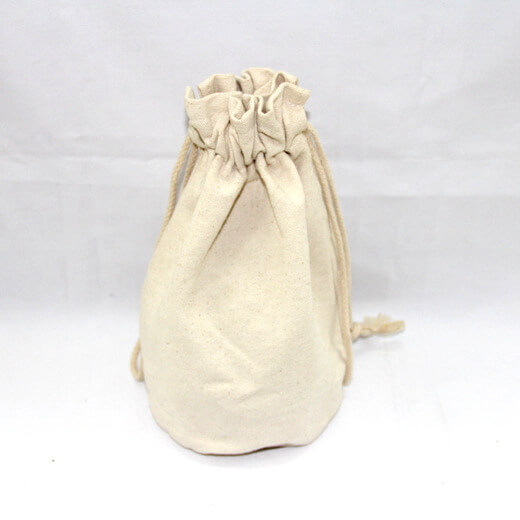 Reusable promotional cotton/canvas drawstring bag plain, #04-046