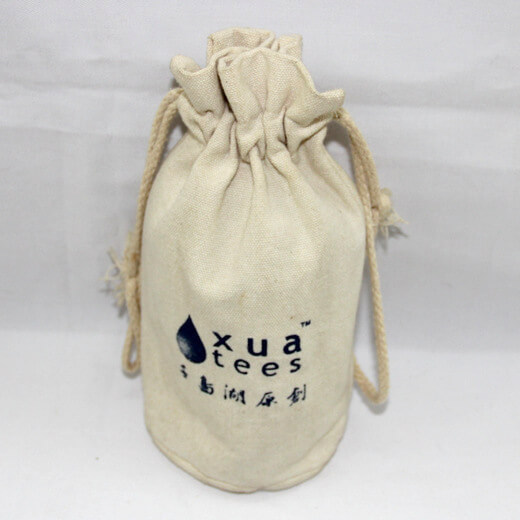 Reusable promotional cotton/canvas drawstring bag with custom print/logo, #04-048