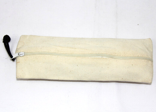 Reusable promotional cotton/canvas pencil box , , #04-065