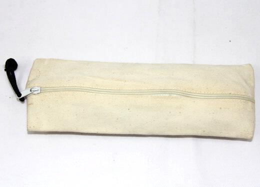 Reusable promotional cotton/canvas pencil box , , #04-065