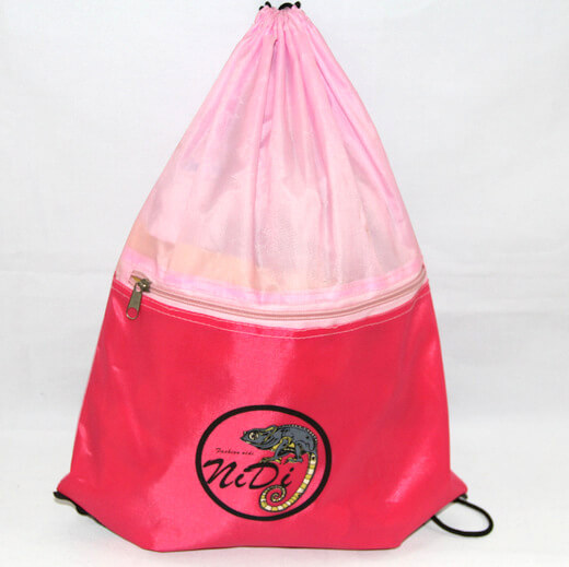 Promotional Polyester Fabrics Drawstring Bags/Backpack in China Yiwu, Nidi, #04-068