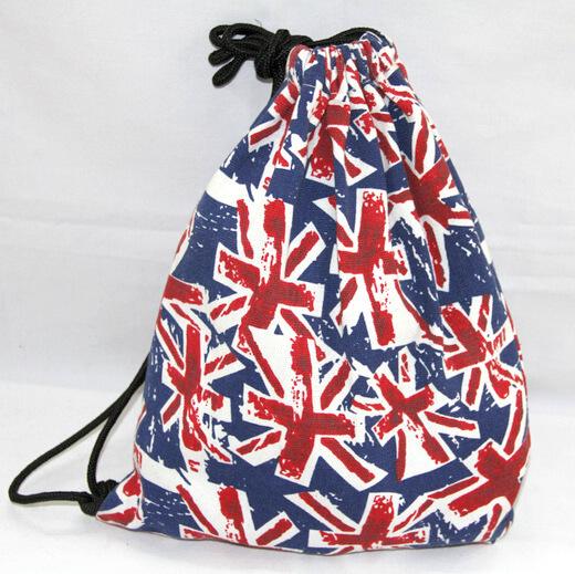 Reusable promotional cotton/canvas drawstring bag , , #04-076