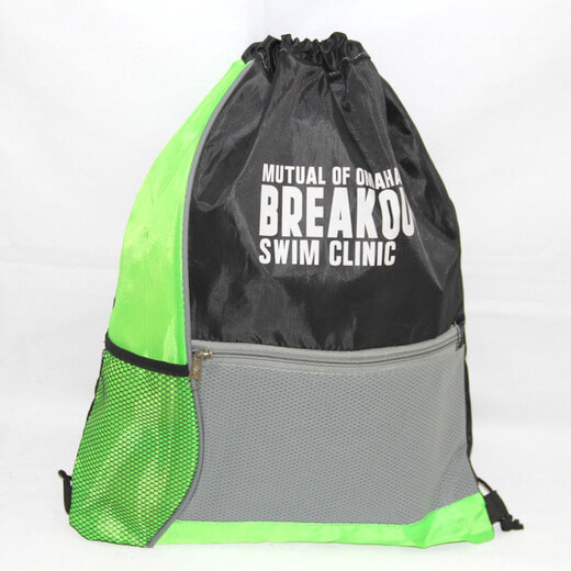 Promotional Polyester Fabrics Drawstring Bags/Backpack in China Yiwu, Swimming Club, #04-078