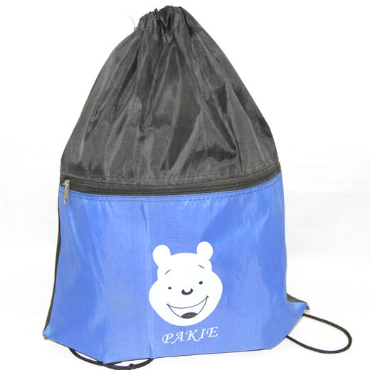 Promotional Polyester Fabrics Drawstring Bags/Backpack in China Yiwu ,pakie, #04-090