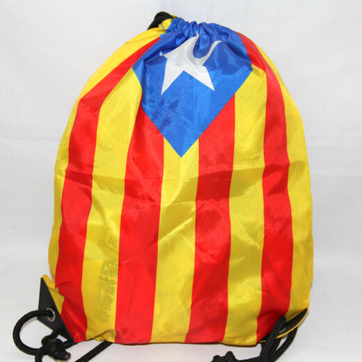 Promotional Polyester Fabrics Drawstring Bags/Backpack in China Yiwu ,national flag, #04-092