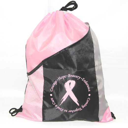 Promotional Polyester Fabrics Drawstring Bags/Backpack in China Yiwu ,AIDS, #04-094