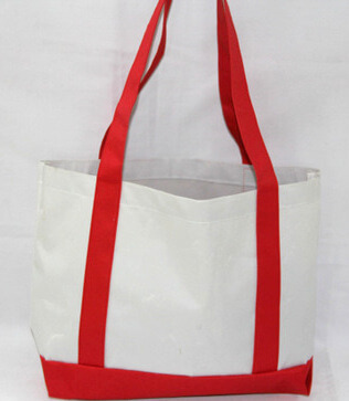 Reusable promotional cotton/canvas shopping totes with custom print/logo, #04-100