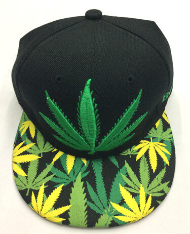 Fashion Hats and Caps in Yiwu China, CANNABIS LEAVES, #0503-002