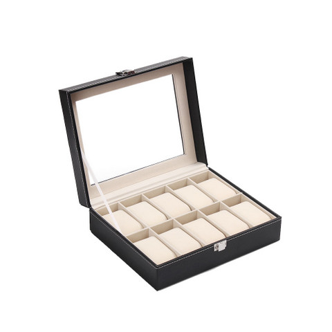 PU Leather Watch Display Box 10 slots (2)