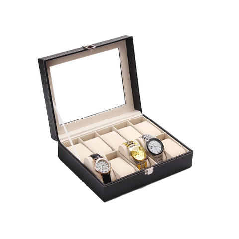PU Leather Watch Display Box 10 slots (3)