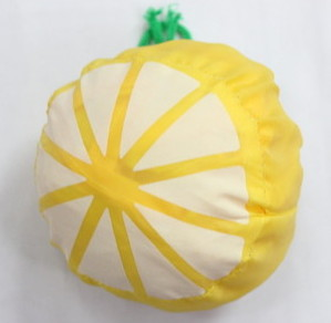 Folding Bags #1001-003, lemon shape, folded