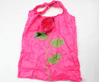 Folding Bags #1001-006-2, rose shape, unfold