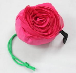 Folding Bags #1001-006, rose shape, folded