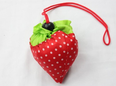 Folding Bags #1001-014, strawberry shape, fold