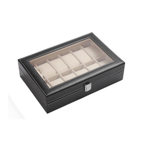 PU Leather Watch Display Box 12 slots (1)