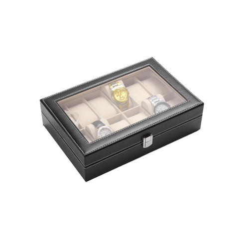 PU Leather Watch Display Box 12 slots (3)