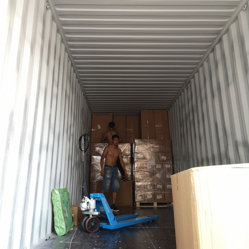 Consolidated shipments from multiple suppliers are packed into one container