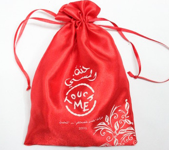 Satin bags #1401-002, with customized printing for promotion