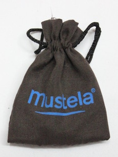Satin bags #1401-009, with logo